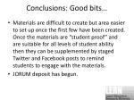 conclusions good bits