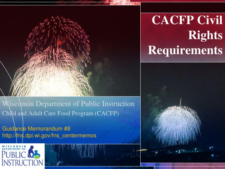 cacfp civil rights requirements n.