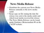news media release