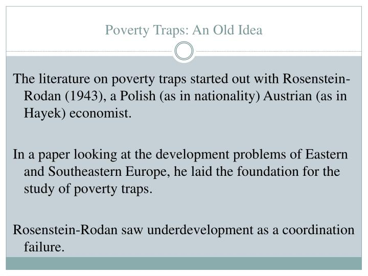 Poverty Traps: An Old