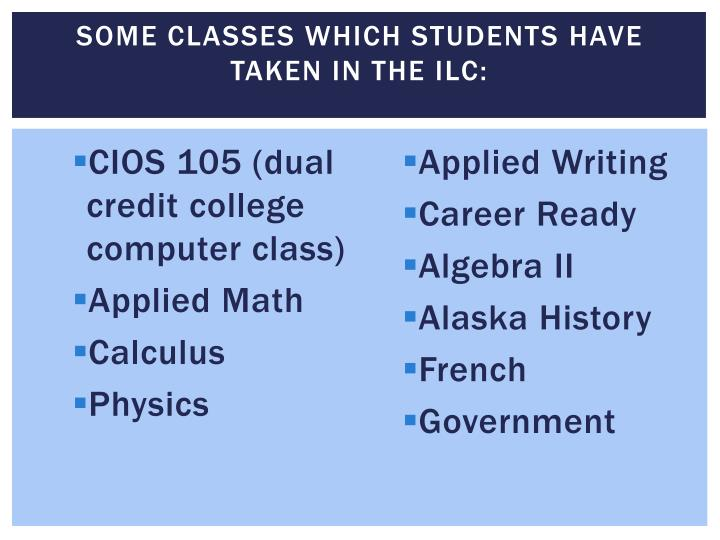 SOME Classes