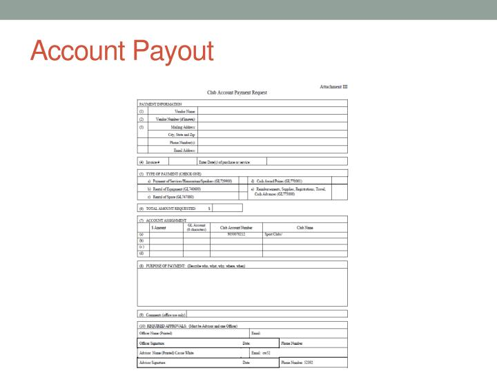 Account Payout