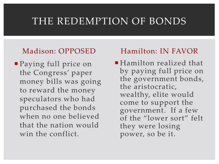 The Redemption of Bonds