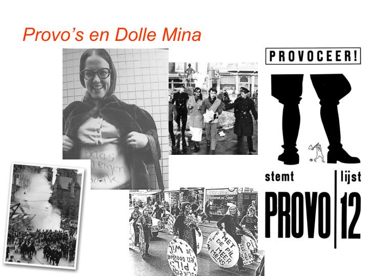 Provo's en Dolle Mina