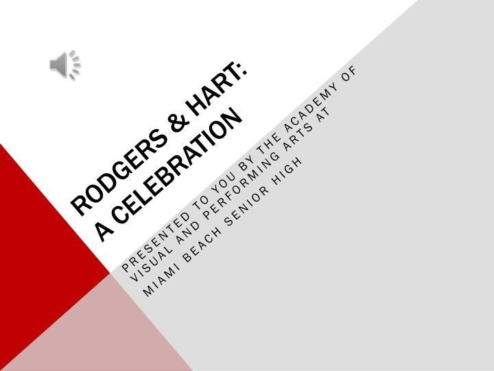 rodgers hart a celebration n.