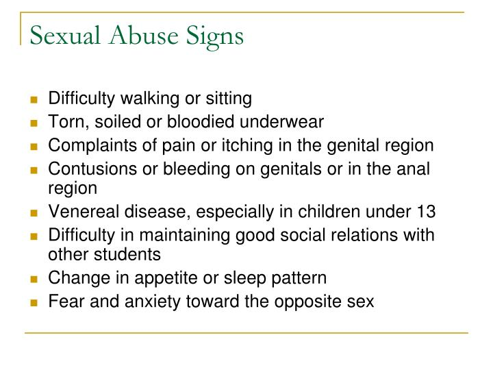 Sexual Abuse Signs
