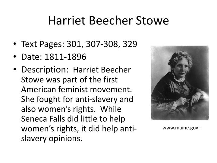 how realistically and credibly stowe presents slavery One can only imagine the explosion of outrage if president barack obama had been credibly accused the end of slavery beecher stowe was among the.