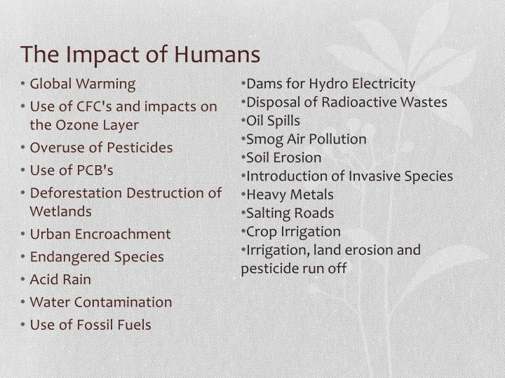 The Impact of Humans