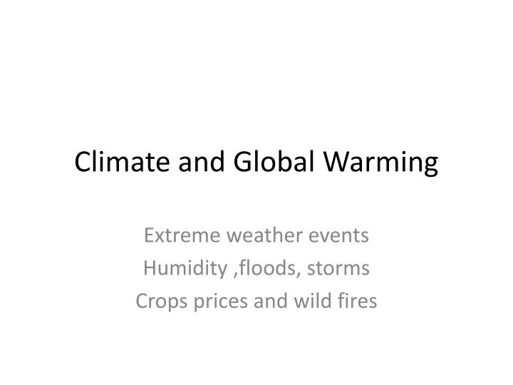 climate and global warming n.