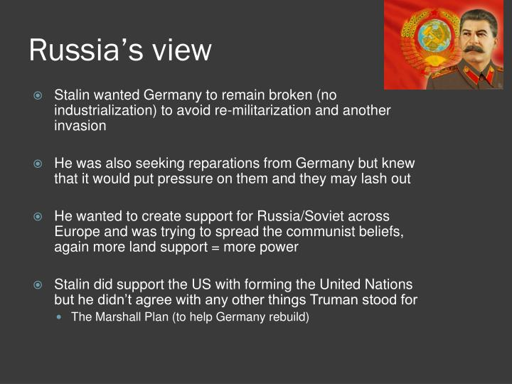 Russia's view