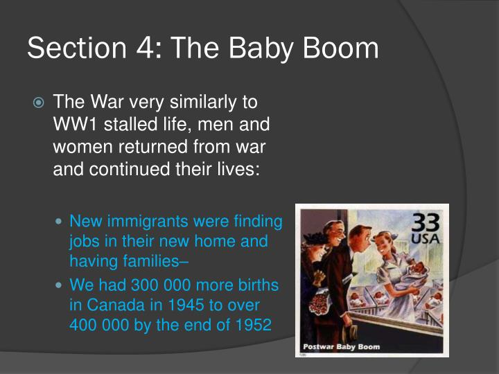 Section 4: The Baby Boom