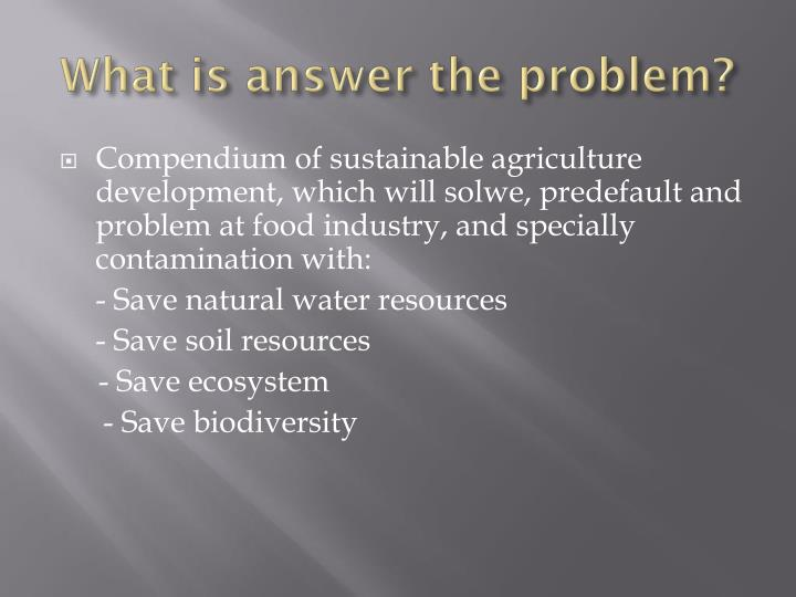 What is answer the problem