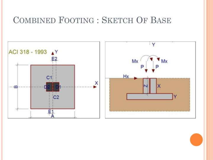 Combined Footing : Sketch Of Base