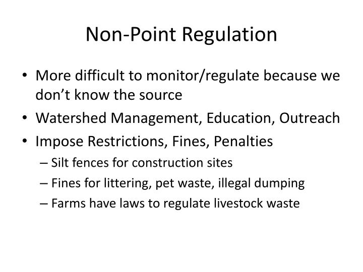 Non-Point Regulation