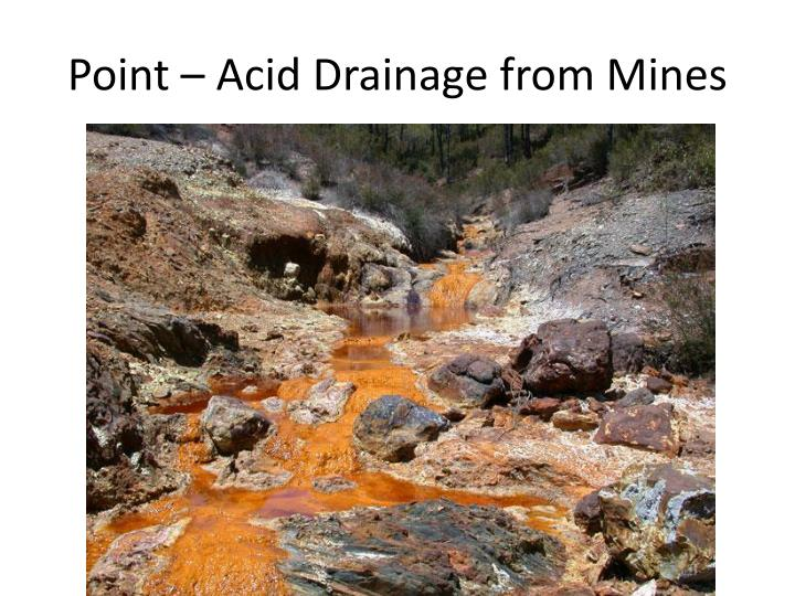 Point – Acid Drainage from Mines