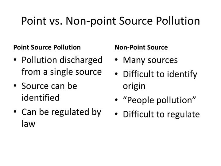 Point vs non point source pollution1