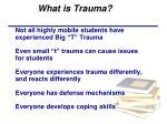 what is trauma1