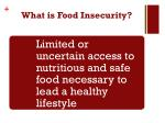 what is food insecurity