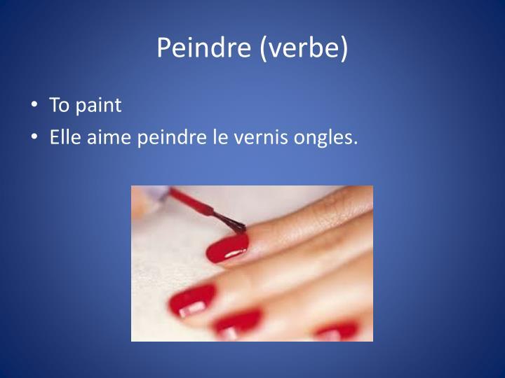 Peindre (verbe)