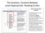 the solution content related level appropriate reading circles