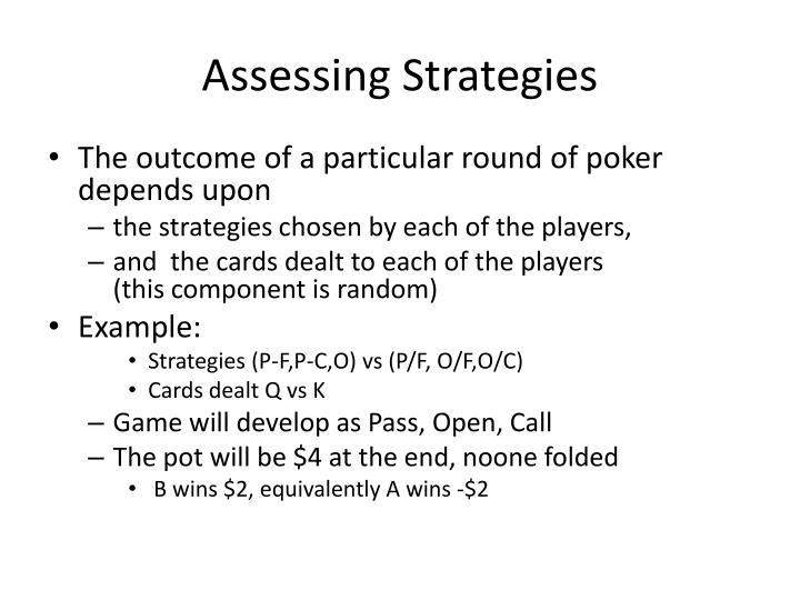 Assessing Strategies