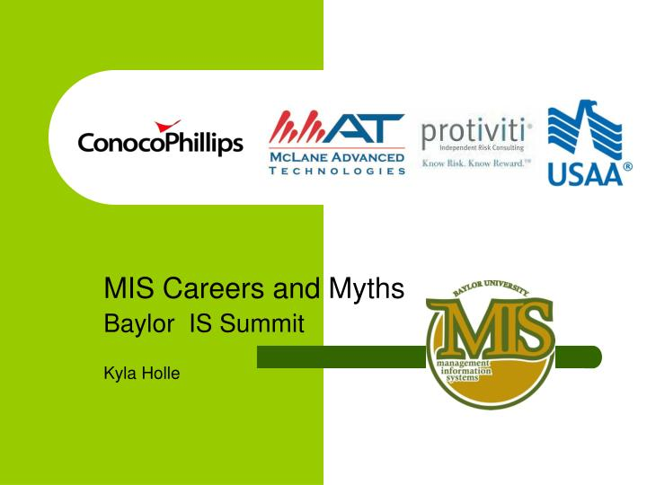 MIS Careers and Myths