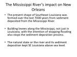 the mississippi river s impact on new orleans