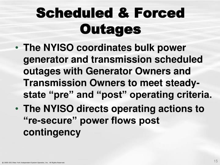 Scheduled & Forced Outages