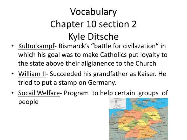 vocabulary chapter 10 section 2 kyle ditsche