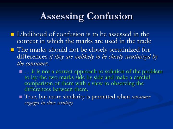 Assessing Confusion