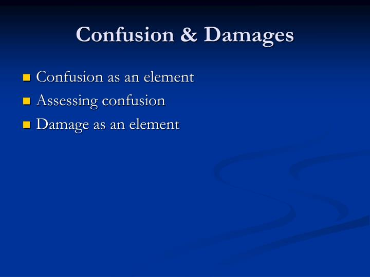 Confusion damages