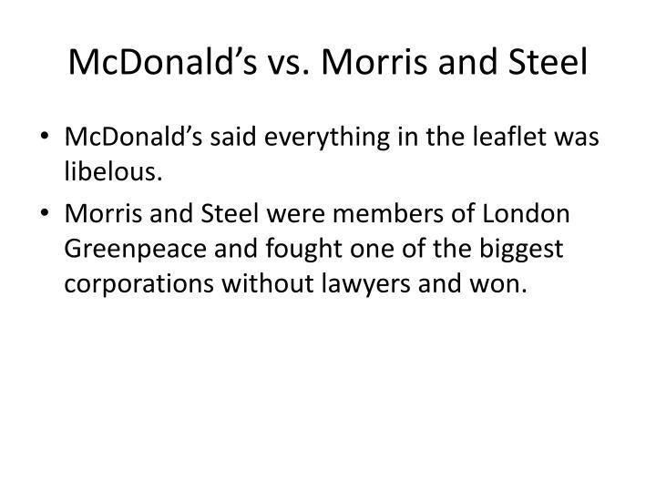 McDonald's vs. Morris and Steel