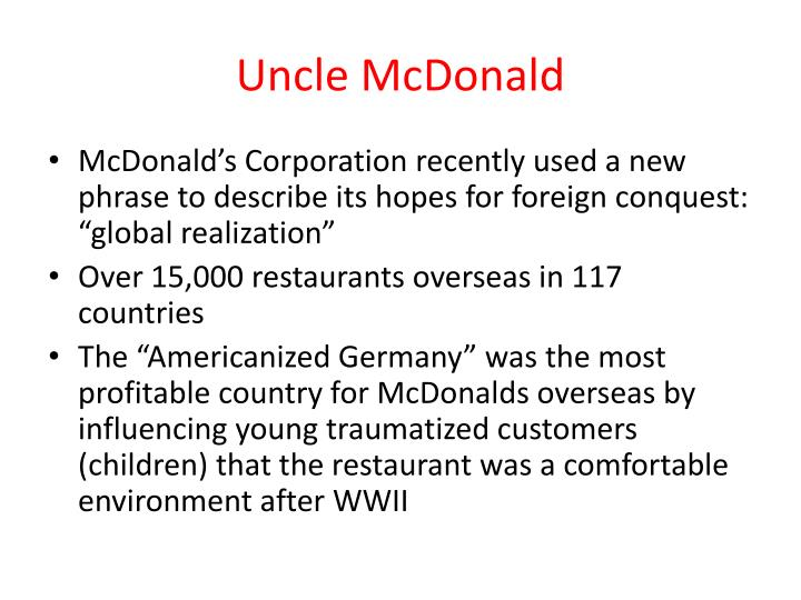 Uncle McDonald