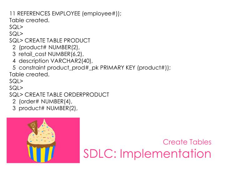 11 REFERENCES EMPLOYEE (employee#));