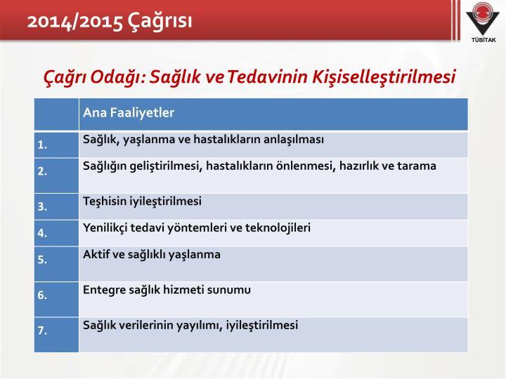 2014/2015 Çağrısı