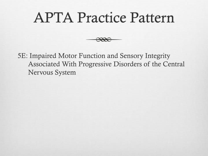APTA Practice Pattern