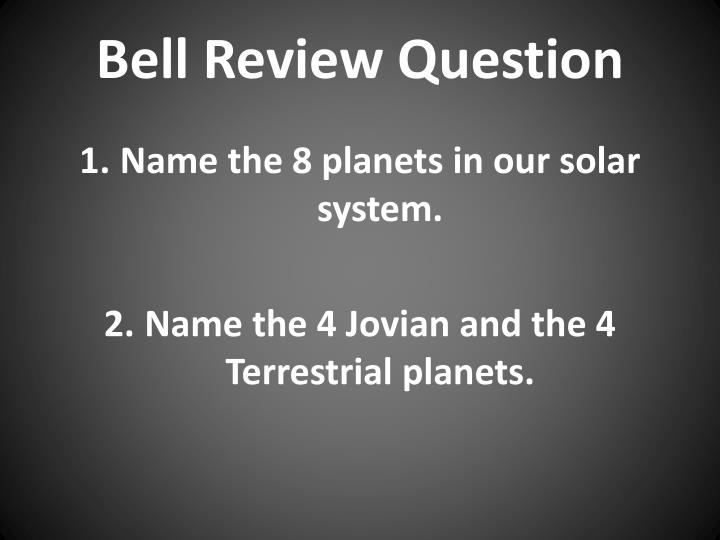 bell review question n.