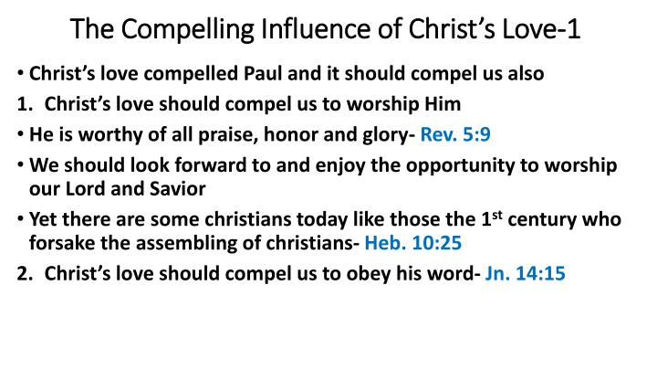 The Compelling Influence of Christ's Love-1