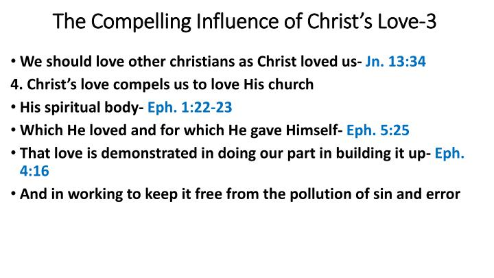 The Compelling Influence of Christ's Love-3