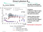 direct photon r aa