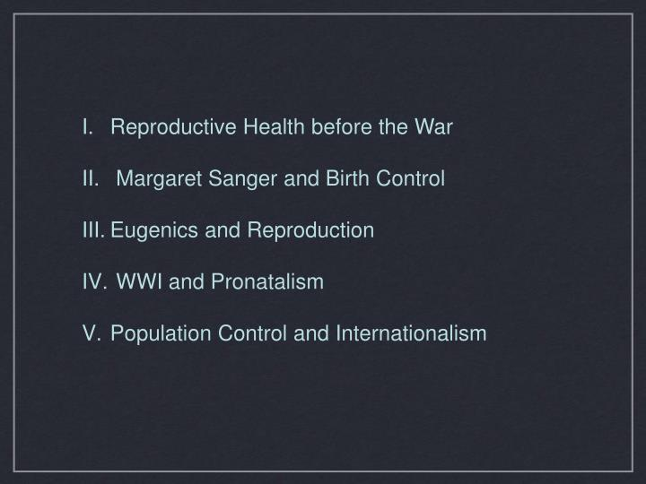 Reproductive Health before the War