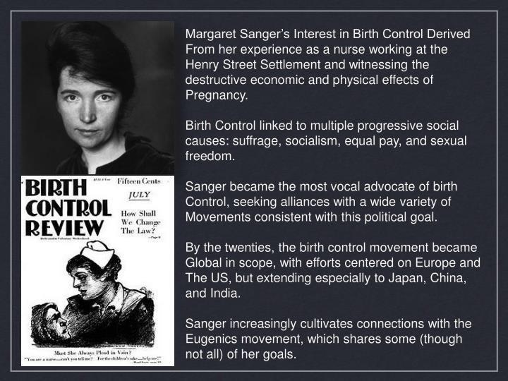 Margaret Sanger's Interest in Birth Control Derived