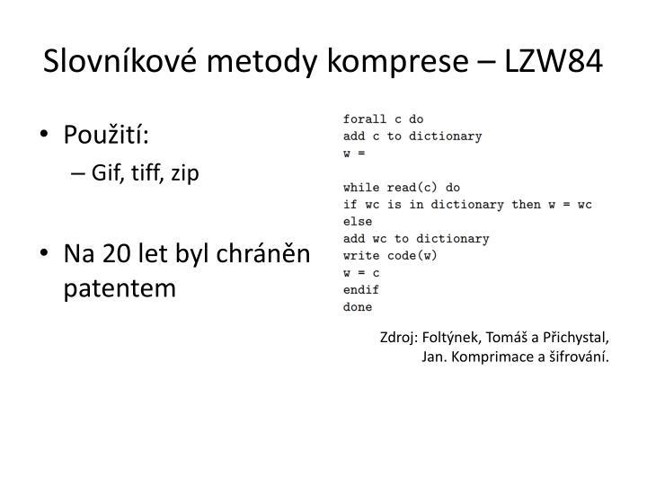 Slovníkové metody