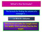 what s the formula