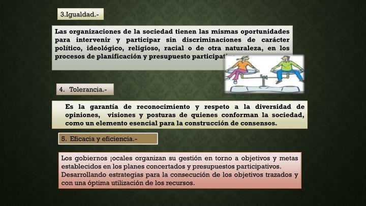 3.Igualdad.-