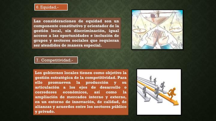 6. Equidad.-