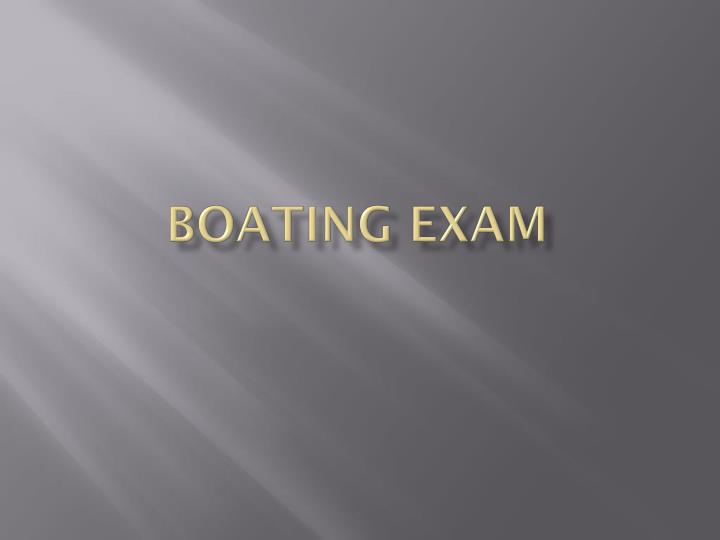 boating exam n.