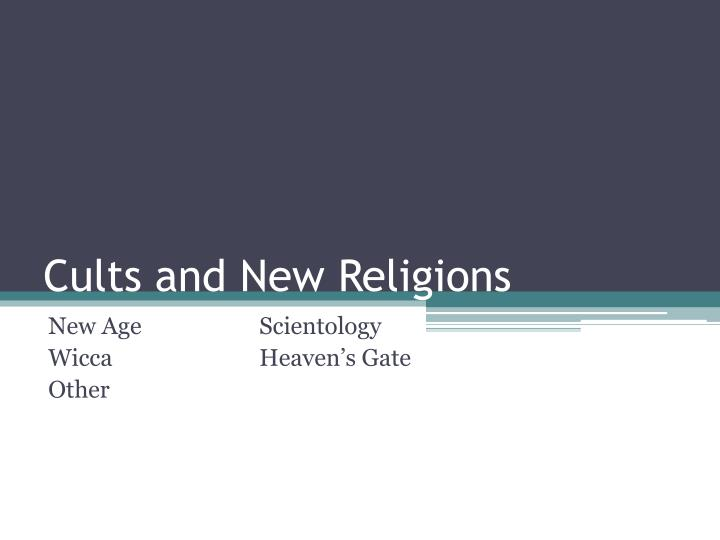 cults and new religions n.