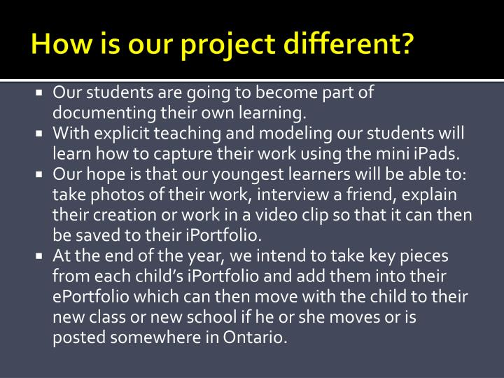 How is our project different?