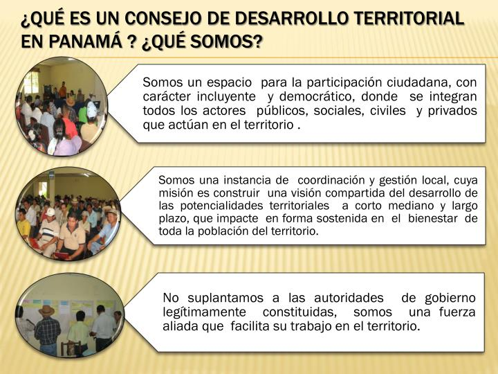 ¿Qué es un Consejo de Desarrollo Territorial En Panamá ? ¿Qué somos?